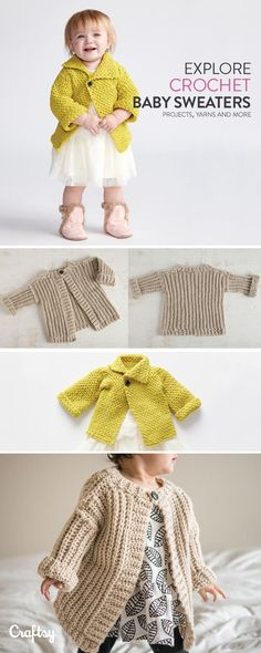 Explore crochet baby sweater projects, yarns, videos and more!