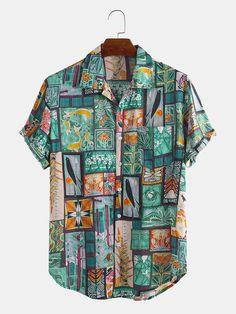 Blazers For Men Casual, Casual Blazer, Casual Shirts, Camisa Floral, Henley Shirts, Summer Shirts, Collar Shirts, Shirt Sleeves, Shirt Designs