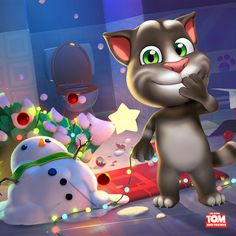 Ahaha! I'm still laughing about this - and it's days later! He's so silly ;) I'm still cleaning up the mess in the apartment tho… xo, Talking Angela #TalkingAngela #MyTalkingAngela #TalkingTom #holidays #friends #mess #apartment #home #cheeky #LittleKitties