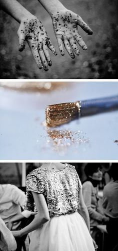 something old, something new, some glitter and some glue