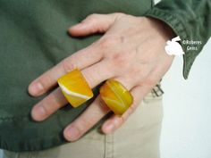 Sortija Ipanema. Ágata amarilla