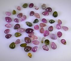 Tourmaline loose Stone 1 Pieces 3x4,5x7 mm Pear Multi cabochon Gemstone in Jewellery & Watches, Loose Diamonds & Gemstones, Tourmaline | eBay