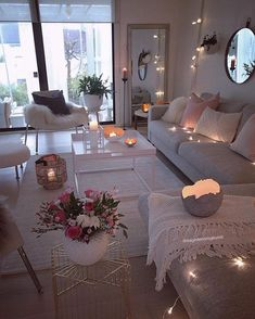 55 cozy living room decor ideas to copy 7 ⋆ All About Home Decor Cozy Living Rooms, Home Living Room, Apartment Living, Living Room Designs, Living Room Decor, Bedroom Decor, Cozy Apartment, Living Room Ideas, Decor Room