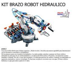 KIT BRAZO ROBOT HIDRAULICO Una serie de Kits Robot para el futuro ingeniero. ¡Monte los kits y descubra una manera agradable para familiarizarse  con la electrónica, la mecánica y la hidráulica! Dé los primeros pasos en el mundo de la hidráulica.  Los niños podrán controlar y manejar este brazo robótico  utilizando los principios de un sistema hidráulico y su aplicación.El kit incluye 229 piezas y un manual de usuario  detallado e ilustrado. Por ello, es muy fácil montarlo y es ideal para… Control, Vacuums, Kit, World, Engineer, Future, Vacuum Cleaners