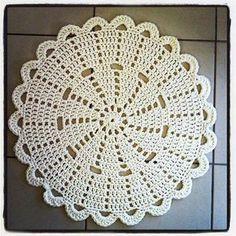 lovely crochet doily rug by