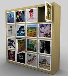 IKEA storage meets your record collection