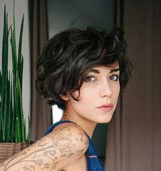 Explore gallery of Short Fine Curly Hair Styles of Short Messy Haircuts, Wavy Bob Hairstyles, Haircuts For Curly Hair, Short Hair Cuts, Pixie Cut Wavy Hair, Short Haircuts Women, Short Fine Hair, Wavy Pixie Haircut, Hairstyle Short