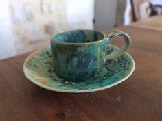 Your place to buy and sell all things handmade Coffee Lover Gifts, Espresso Cups, Ceramic Cups, Kind Words, Marine Life, Coffee Time, Cup And Saucer, Stoneware, Tea Cups
