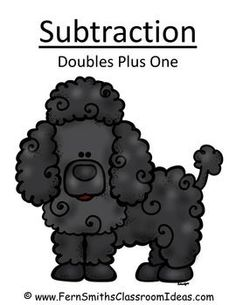 Subtraction Doubles Plus One - Puppy Themed - Quick and Easy Centers #TPT $Paid