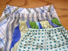 Recycling pillow cases into PJ shorts! So cute!