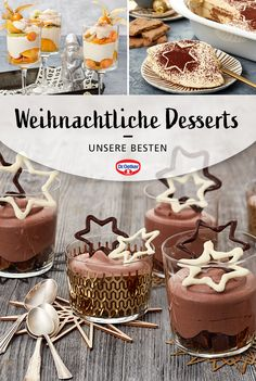 Parfait Desserts, Winter Desserts, Gourmet Desserts, Köstliche Desserts, Christmas Desserts, Delicious Desserts, Xmas Food, Christmas Cooking, Easy Cake Recipes