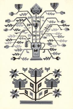 Motivul pomul vieții Folk Embroidery, Embroidery Ideas, Arrow Tattoos, Fair Isle Knitting, Weaving Techniques, World Cultures, Painting Patterns, Printmaking, Folk Art
