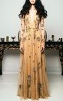 Birds and Honey Embroidered Gown by Cucculelli Shaheen   Moda Operandi