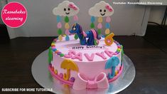 My Little Pony Rainbow Dash Mlp Birthday Cake Design Ideas Decorating Tutorial Video Classes Courses throughout My Little Pony Cake Design - Cake Design Ideas Simple Birthday Cake Designs, Cake Designs For Kids, Simple Cake Designs, Cake Decorating Designs, Cake Decorating For Beginners, Beautiful Birthday Cakes, Cake Decorating Classes, Easy Cake Decorating, Decorating Ideas
