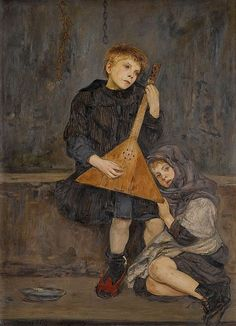 The Young Musicians, Vlastimil Hofman. Polish (1881 - 1970)