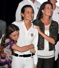 Charlotte Casiraghi Photos - Princess Alexandra of Hanover (L) Charlotte Casiraghi (C) and Princess Caroline of Hanover (R) attend the International Monte-Carlo Jumping on June 2010 in Monte-Carlo, Monaco. Grace Kelly, Patricia Kelly, Princess Stephanie, Princess Charlotte, Princess Diana, Prince Albert, Monte Carlo, Prince Of Monaco, Princesa Charlene