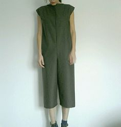 Simple structures. minimal style Green jumpsuit by Otto&Klaus