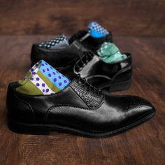 Add nuance to your look with a pair of patterned socks.