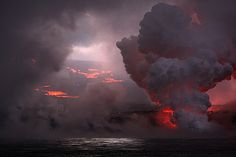 Eruption on the volcano in Isla Fernandina, #Galapagos. #Earth #Fire #Water http://www.southamericaperutours.com/southamerica/12-days-wonders-of-machu-picchu-and-galapagos.html