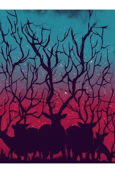 Sharp Shirter Deer Forest Poster