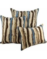 Sherry Kline Waves Blue Brown Combo Throw Pillows (set Of