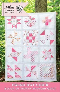 Image of Polka Dot Chair Block of Month Quilt - PDF