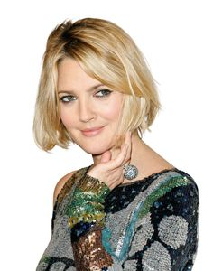 """Drew Barrymore's low-key 2009 """"lob"""" (that's hairstylist-speak for long bob) works for straight or wavy hair thanks to the choppy ends"""