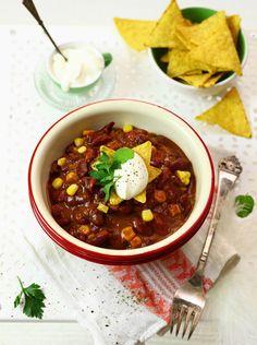 Chili con carne #obiad #kolacja #przepisy #kuchnia #meksyk #fasola #kukurydza #pikantne #POLOmarket