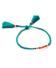 Green Fluo Pom Pom Bracelet