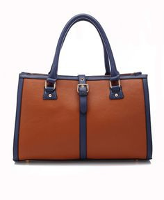 Rectangular PU Leather Tote Bag
