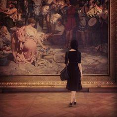tumblr little black dress,  frame,  #photography  art museum