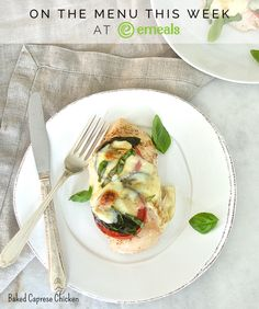 Baked Caprese Chicken from eMeals