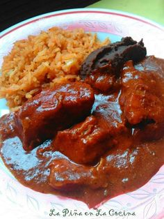 Asado de Boda, pork in a red chile sauce, is a simple and inexpensive dish made popular in the city of Zacatecas, Mexico. It's a cross between an Asado de Puerco(red chile pork) and a Mole. T…