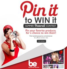 Backdrop Express' Pin It to WIN It Summer Giveaway is Back!