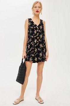 c5cc6b51844 Floral Pinafore Romper - Rompers  amp  Jumpsuits - Clothing - Topshop USA  Summer Romper