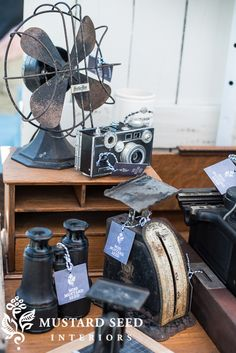 tips on styling a retail space - Miss Mustard Seed Flea Market Displays, Flea Market Booth, Store Displays, Booth Displays, Flea Markets, Vintage Market, Vintage Shops, Vintage Items, Vintage Fans