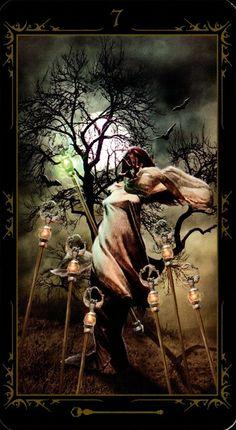 Seven of wands DARK FAIRYTALE TAROT
