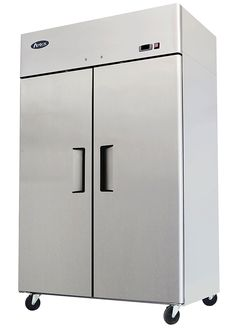 52u0027 double 2 door side by side stainless steel reach in commercial 49