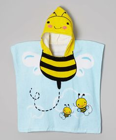 Yellow Bee Hooded Towel #zulily #ad *too funny