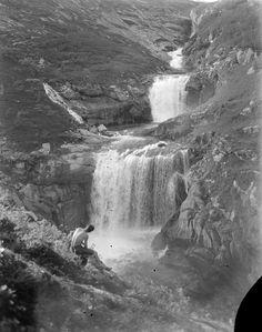 "vintagenorway: ""Arden Valley in Beiarn, Nordland, 1932 "" Monet, Waterfall, Outdoor, Outdoors, Rain, The Great Outdoors, Waterfalls"