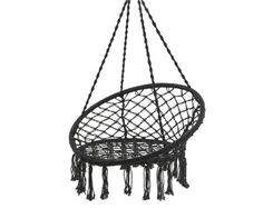 Hangstoel franjes zwart 80x118 cm | Tuinstoelen | Tuinmeubelen | Tuin | KARWEI