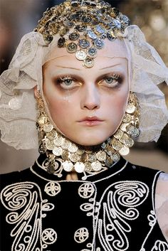 Amazing makeup, clothes, girl...From  John Galiano f/w 2010