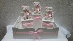 kit higiene bebe tema ursinho rosa