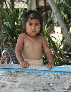 Child on the beach of Lombok