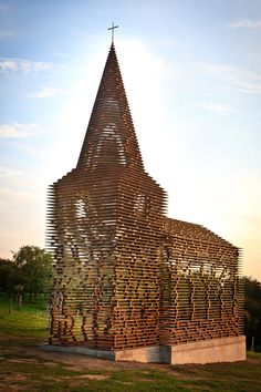 """Reading between the Lines"" Steel Church in Belgium from architects Pieterjan Gijs and Arnout Van Vaerenbergh"