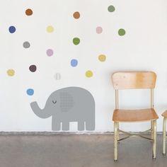 Adhesiu tèxtil Elefant topos #custom #wallsticker #decoration #adhesiu #kids #room