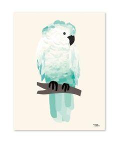 Green cockatoo plakat af michelle carlslund