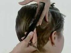 Corte femenino cabello corto - Paso a paso | Peluqueros.tv - YouTube