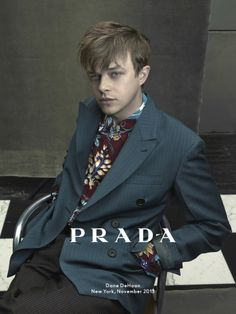 "Upcoming ""Spiderman 2"" co-star Dane De Haan is the face of the PRADA 2014 ads. Photographed by Annie Leibovitz in NYC with hair by SALLY HERSHBERGER"