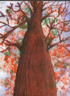 Sarah Pinyan posted skyward view in autumn- grade 4 to her -nice signs- postboard via the Juxtapost bookmarklet. Fall Art Projects, School Art Projects, Fall Arts And Crafts, 4th Grade Art, Grade 3, Perspective Art, Ecole Art, Middle School Art, Art Lessons Elementary